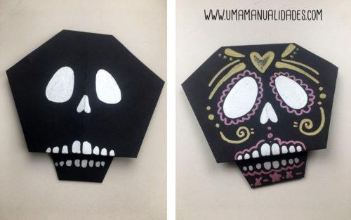 calavera origami facil