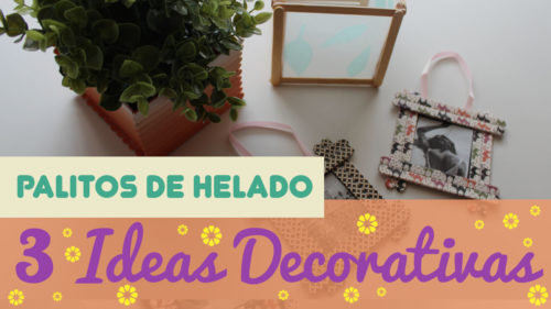 Decoración con palitos de helado