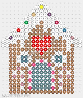 hama beads patrón casa genjibre