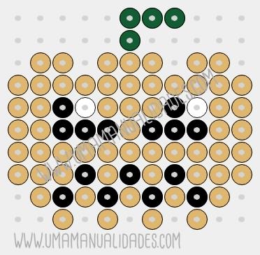 patrón Calabaza de hama beads