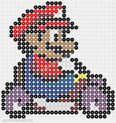 patrón hama beads Mario