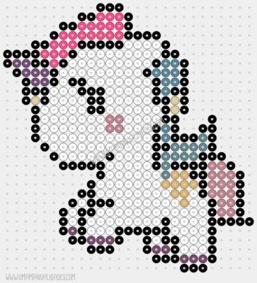 patrón unicornio hama beads