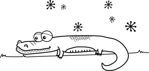 dibujar un cocodrilo