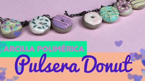 Pulsera de donuts de fimo