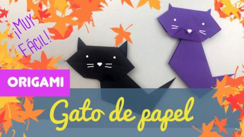 Gato de papel de halloween