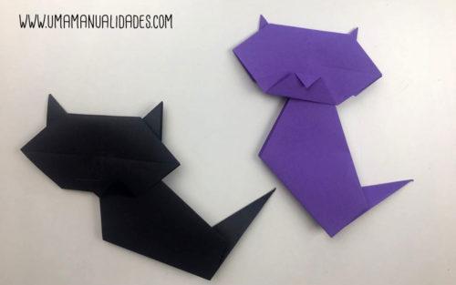 manualidades de origami de gatos