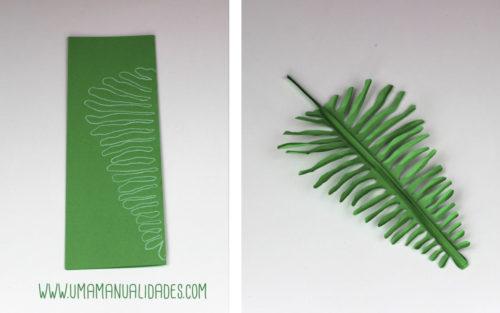 hojas hawaianas de papel
