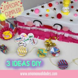 Manualidades para fiestas de cumpleaños