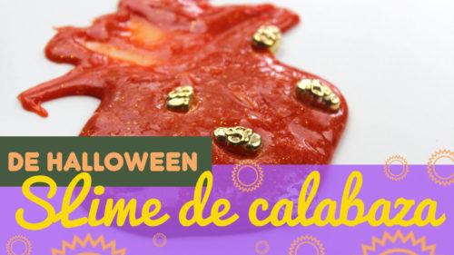 slime casero de Halloween