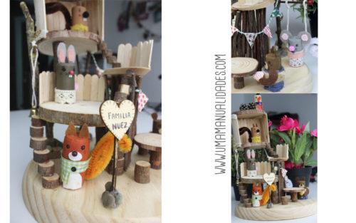como hacer casita de muñecas casera