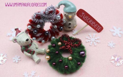 manualidades de navidad con limpiapipas