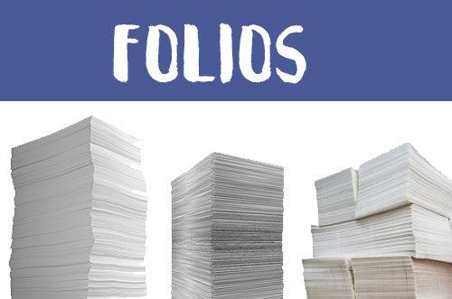 Manualidades con folios