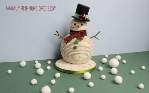 muñeco nieve manualidades