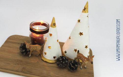 arbol de arcilla navidad