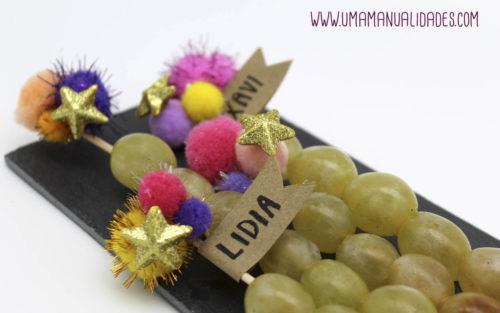 manualidades de fin de año con uvas