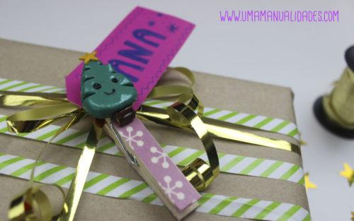 pinzas para decorar regalos de navidad