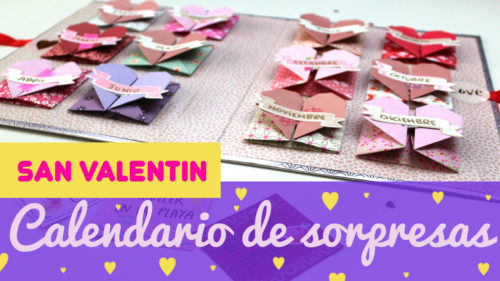 Calendario de sorpresas de san valentín