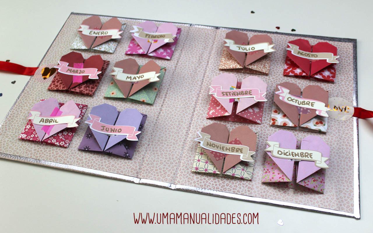 idea para san valentin con papel