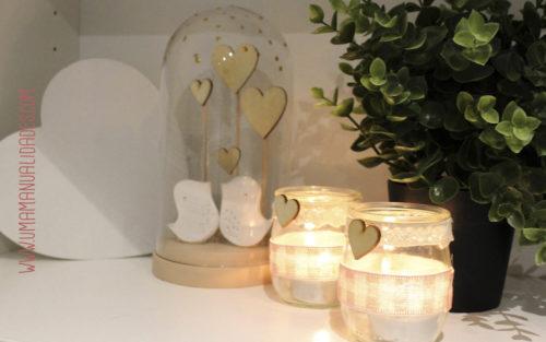 centro de mesa romantico