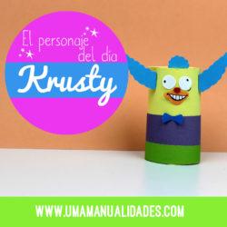 manualidades de Krusty el payaso de los simpsons