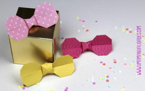 lazos de origami con papel