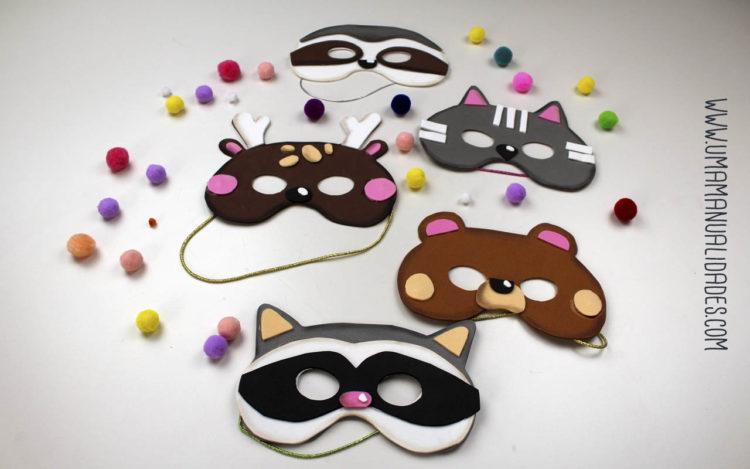 mascaras de animales de foami