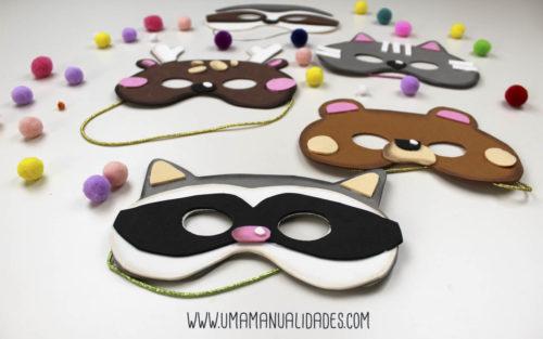 mascaras de animales con foami