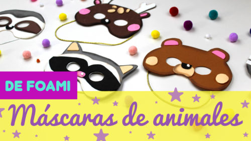 Máscaras de foami de animales para carnaval