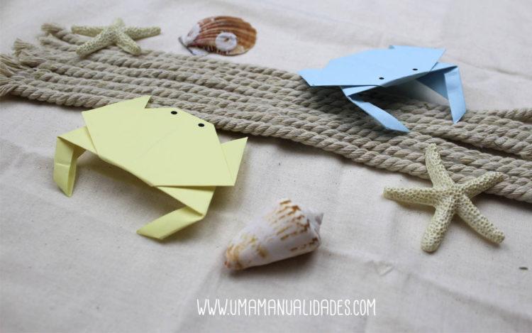 cangrejos origami