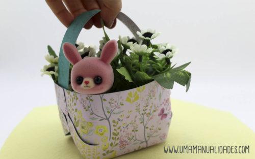cesta de pascua con papel paso a paso