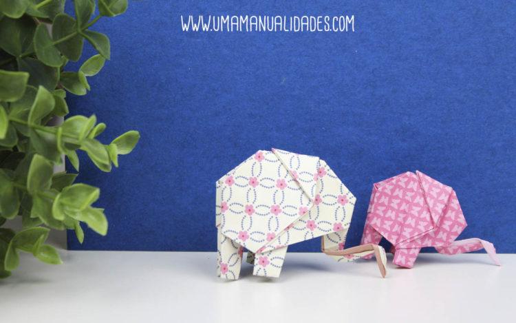 elefante de papiroflexia
