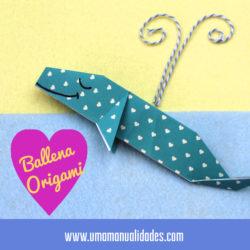Ballena de origami