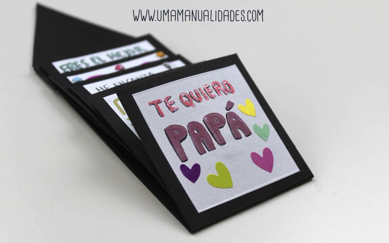 tarjeta de scrapbook para el dia del padre