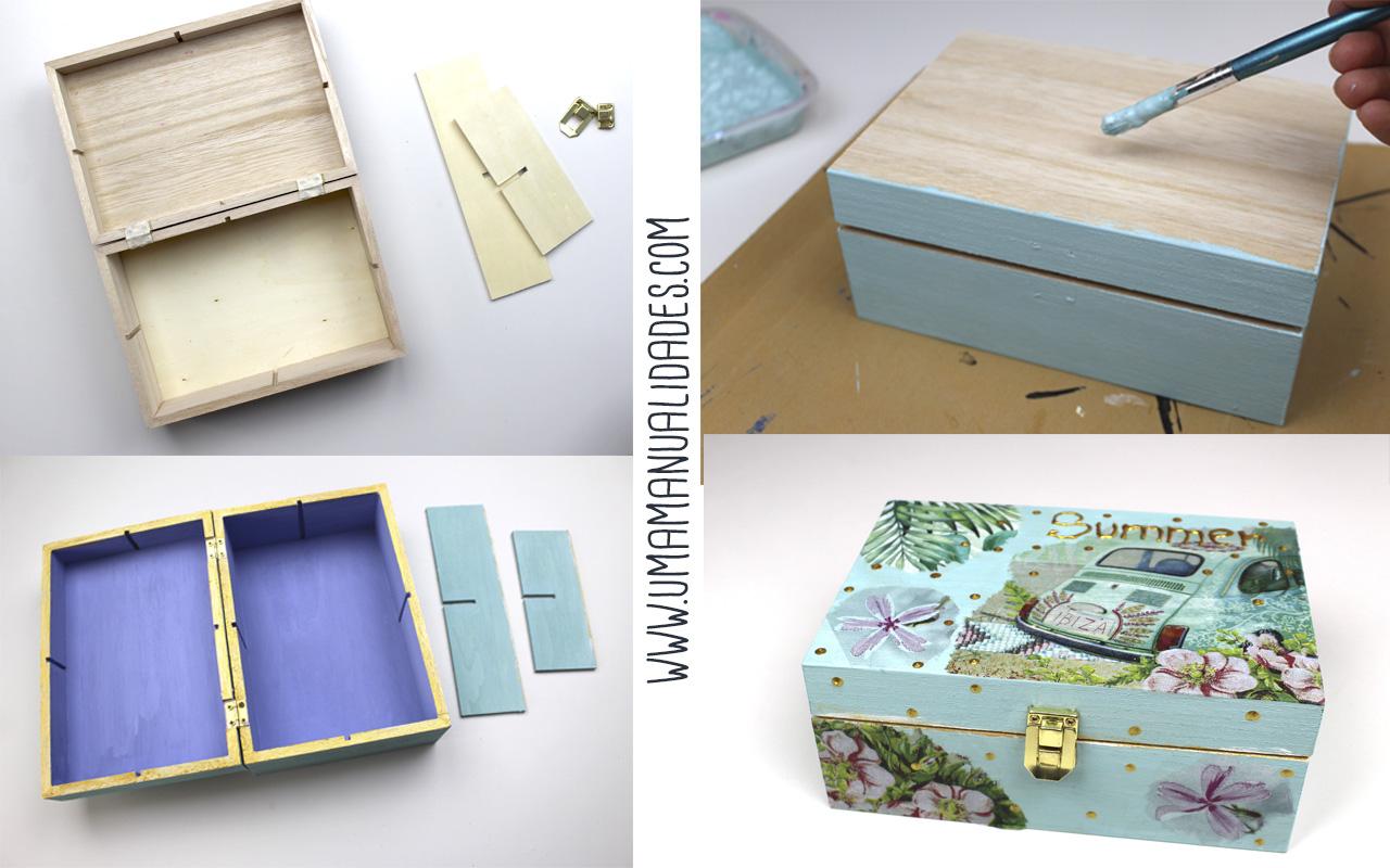 como decorar una caja de madera con decopauge