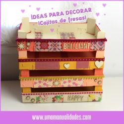 Decorar cajas de frutas y fresas de Madera