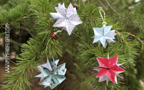estrellas navideñas con papel