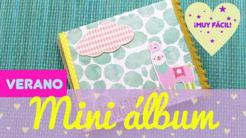 Mini álbum de scrapbook de verano kawaii