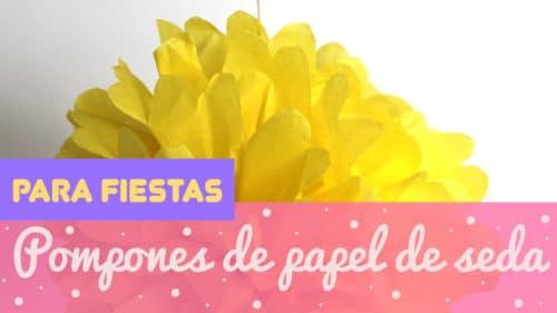 Cómo hacer pompones de papel de seda