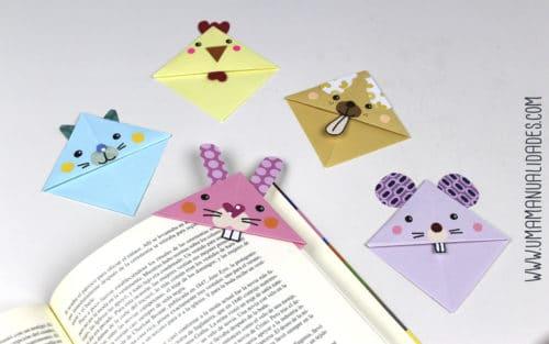 como hacer puntos de libro kawaii de origami