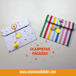 Mini carpetas organizadoras para el regreso a clases kawaii