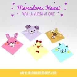 Marca páginas de origami kawaii