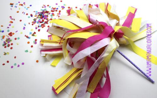 pompones de animadora de papel