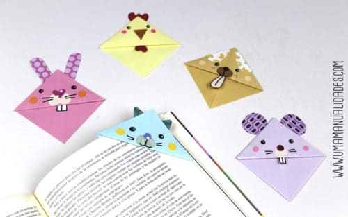 puntos de libro marcadores de papiroflexia