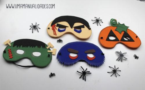 como hacer mascaras de foamy de halloween