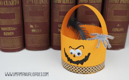 dulceros de halloween de calabazas