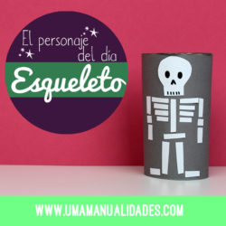 manualidades de esqueletos de halloween