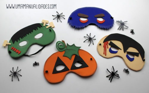 mascaras de fomi para halloween