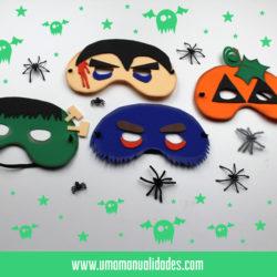 Máscaras de halloween foamy