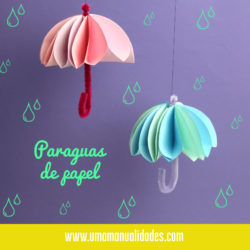 Cómo hacer paraguas de papel