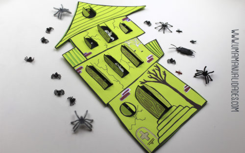 postal de halloween terrorífica